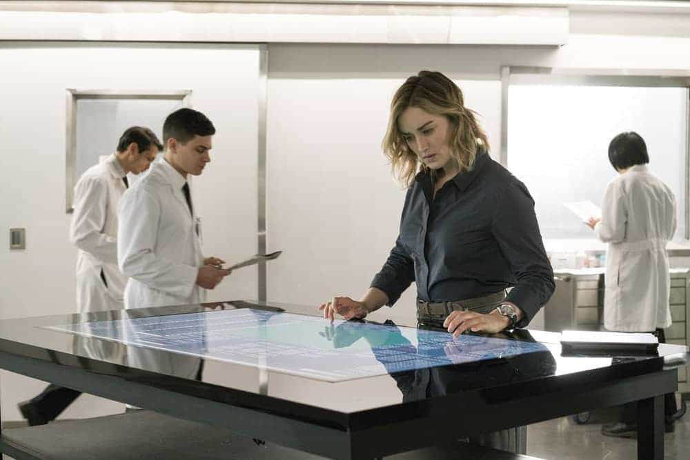 "BLINDSPOT -- ""Evil Did I Dwell, Lewd Did I Live"" Episode 216 -- Pictured: Ashley Johnson as Patterson"