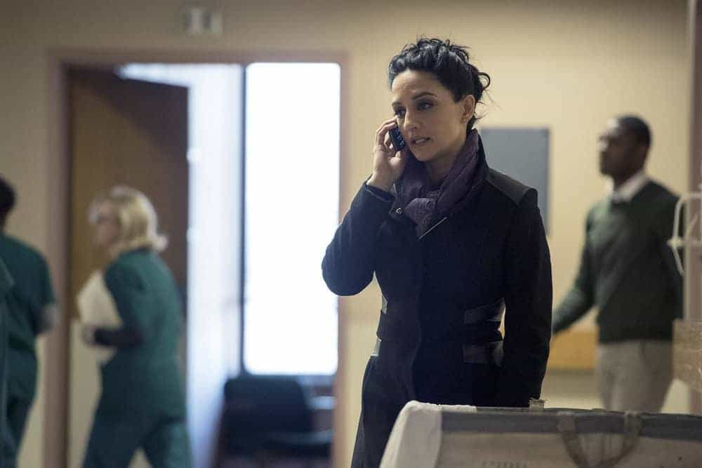 "BLINDSPOT -- ""Evil Did I Dwell, Lewd Did I Live"" Episode 216 -- Pictured: Archie Panjabi as Nas Kamal"