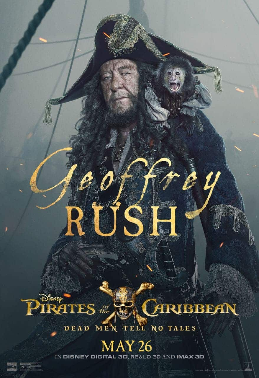 Pirates of the Caribbean: Dead Men Tell No Tales Geoffrey Rush Poster