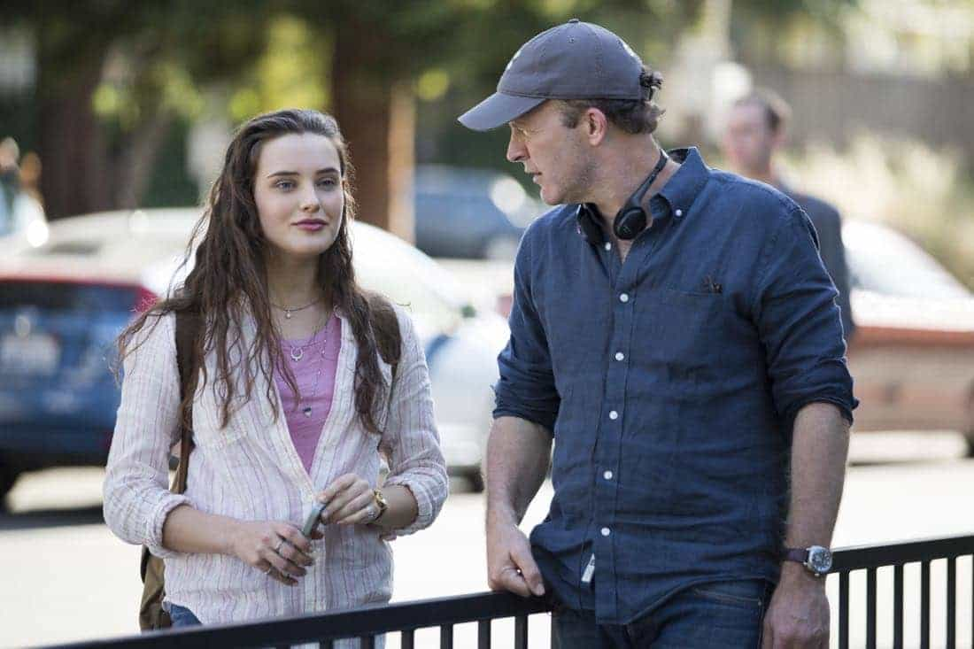 13 REASONS WHY Katherine Langford, Director Tom McCarthy Photo Credit Beth Dubber/Netflix