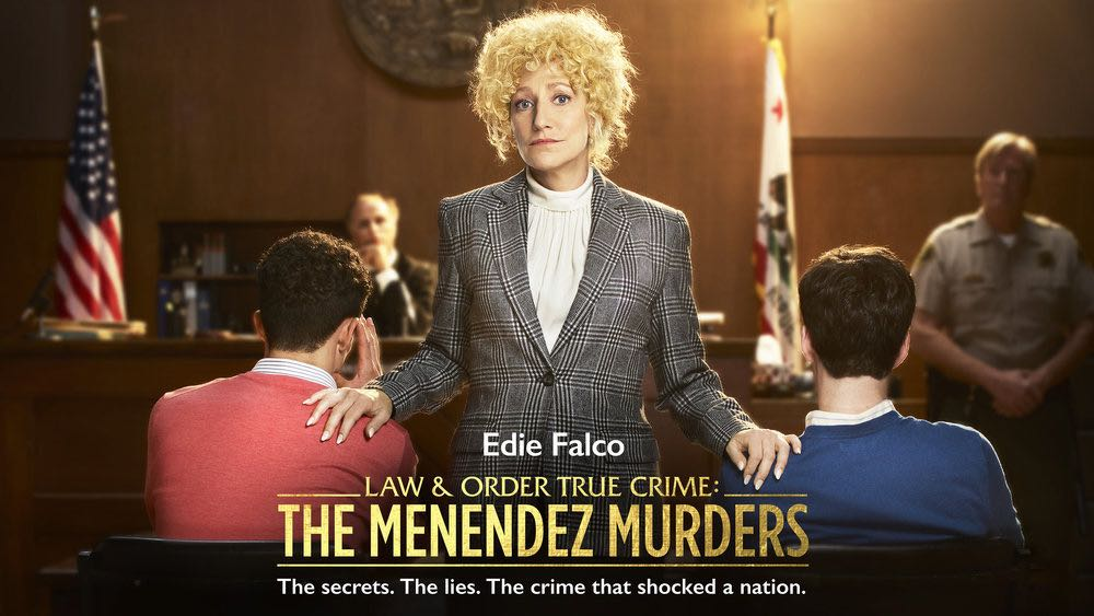 "LAW & ORDER TRUE CRIME: THE MENENDEZ MURDERS -- Pictured: ""Good Girls"" Key Art-- (Photo by: NBCUniversal)"