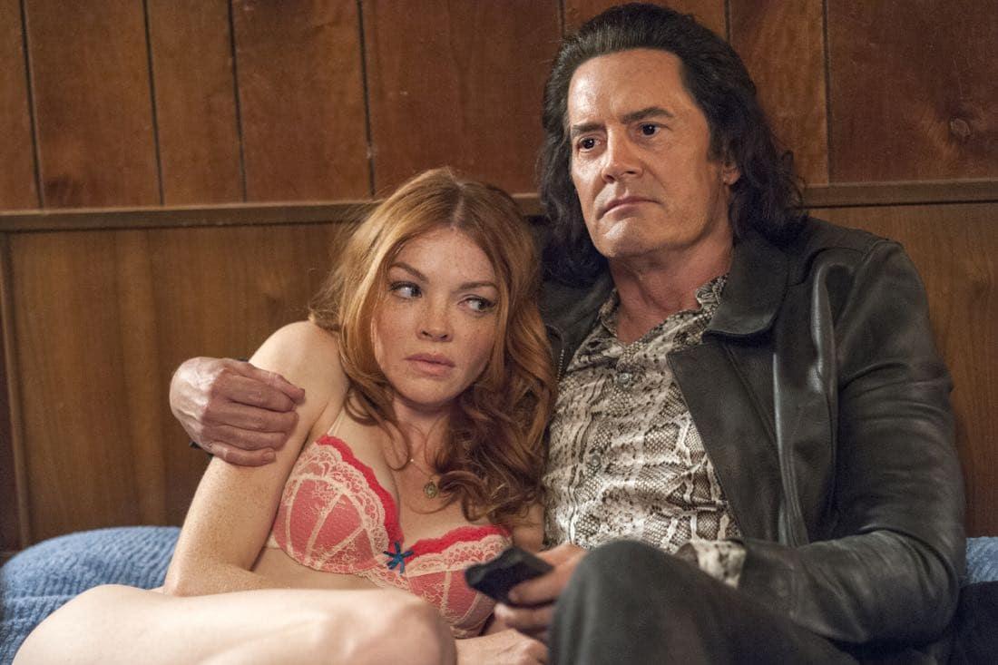 Nicole LaLiberte and Kyle MacLachlan Twin Peaks