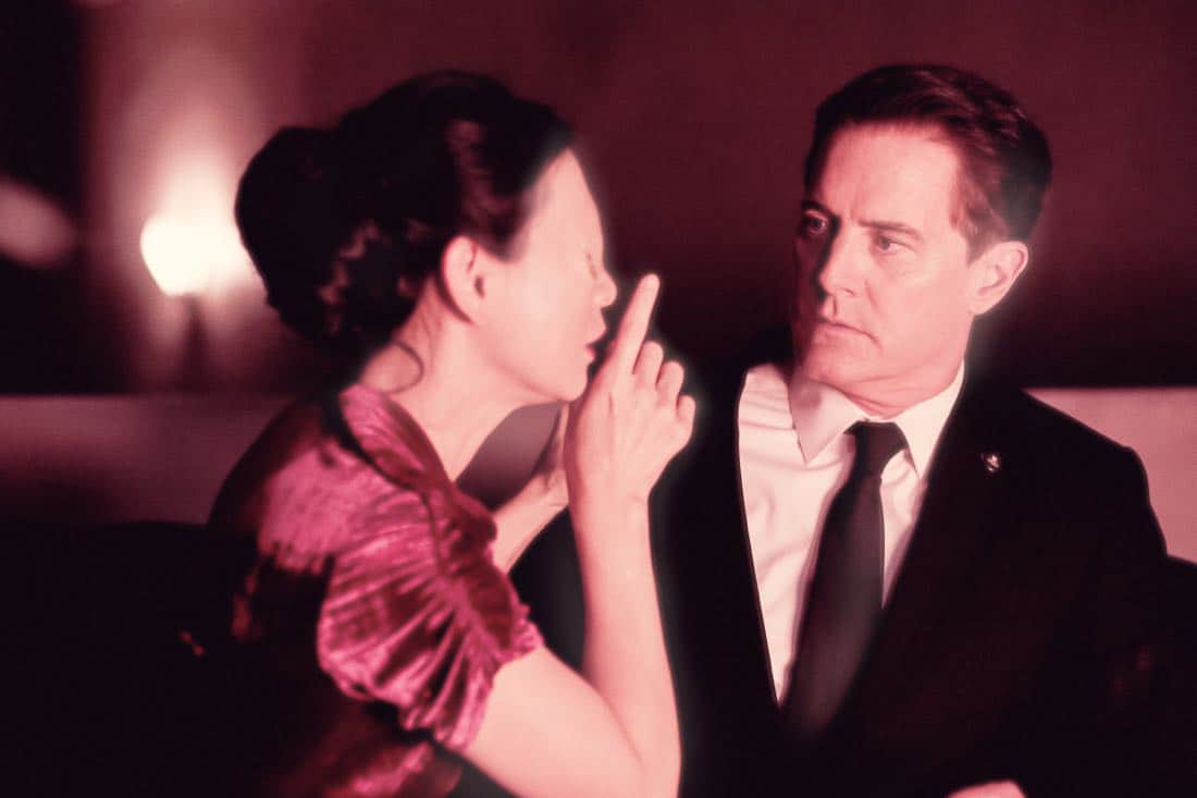 Nae Yuuki and Kyle MacLachlan in a still from Twin Peaks. Photo: Suzanne Tenner/SHOWTIME