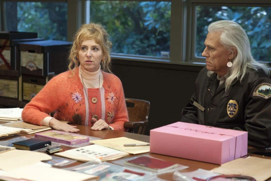Kimmy Robertson and Michael Horse in a still from Twin Peaks. Photo: Suzanne Tenner/SHOWTIME