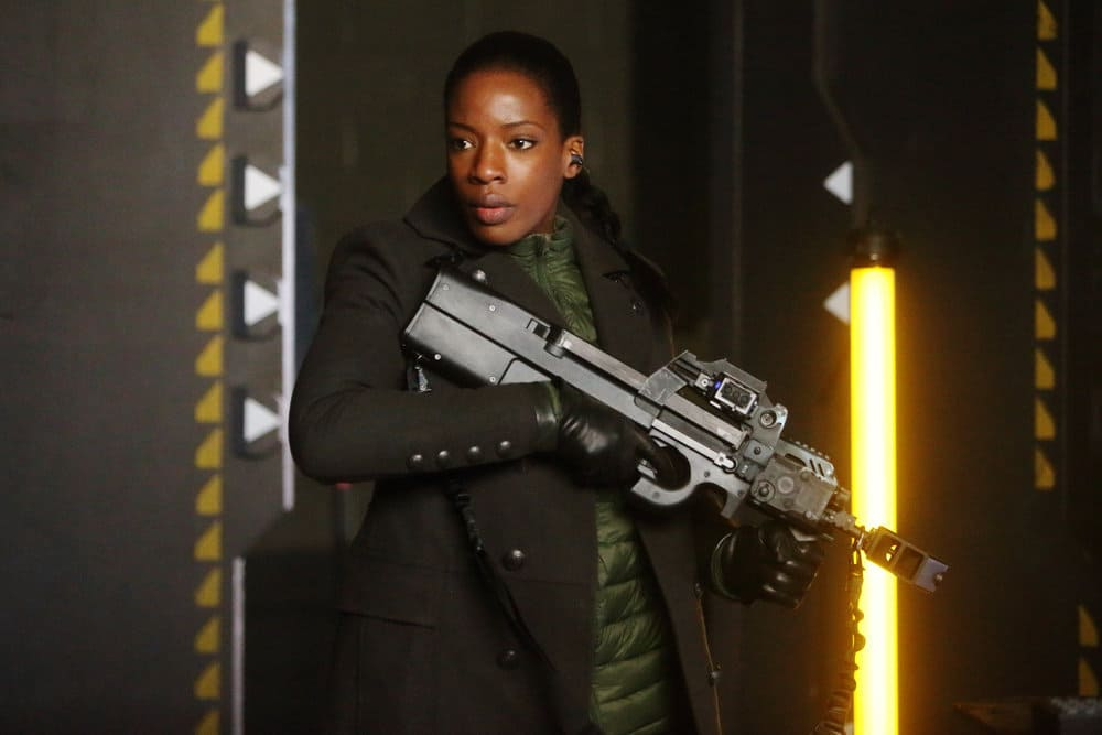 "DARK MATTER -- ""Welcome To The Revolution"" Episode 303 -- Pictured: Ayisha Issa as Solara Shockely"
