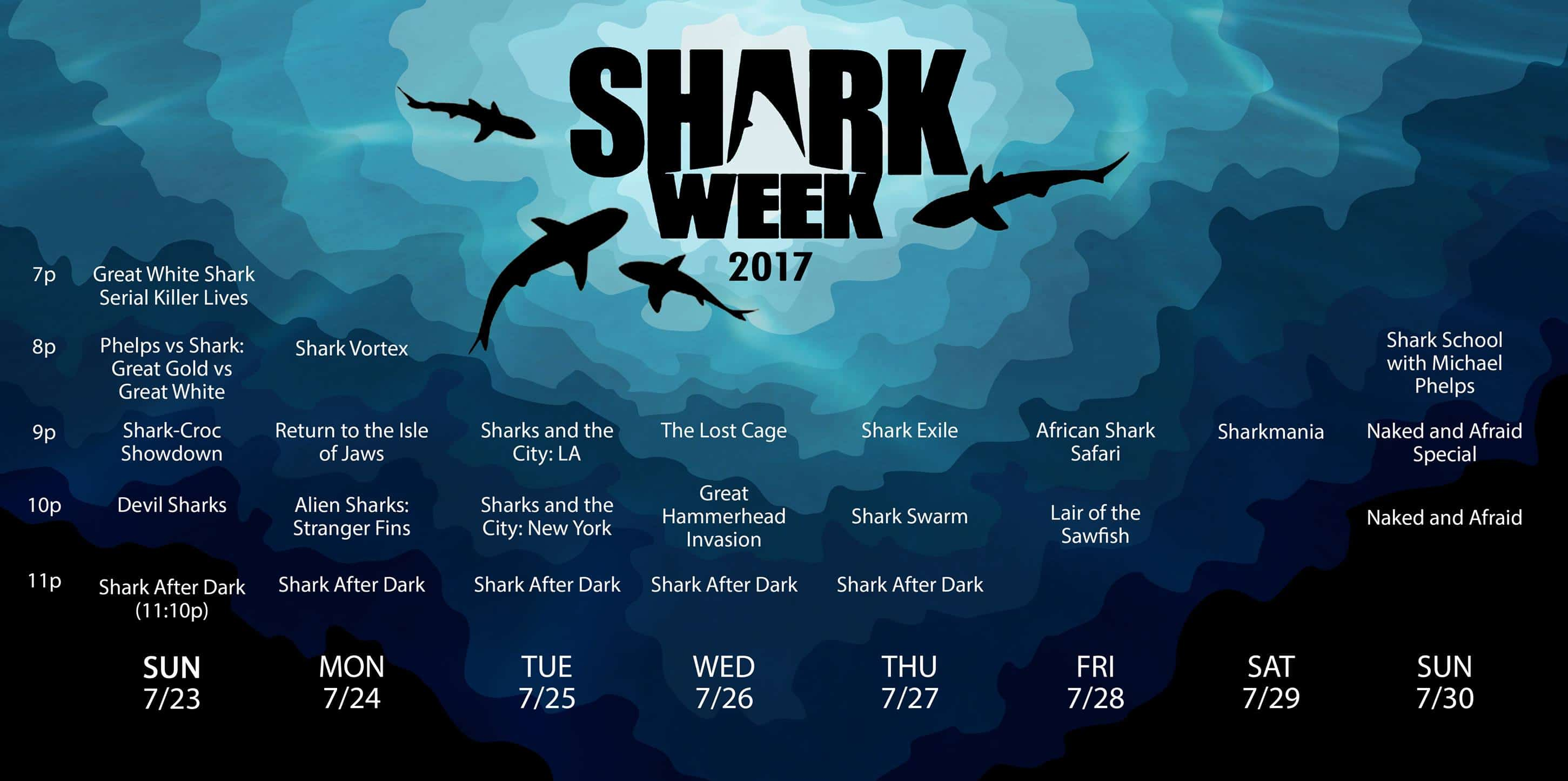 Shark Week Schedule 2017