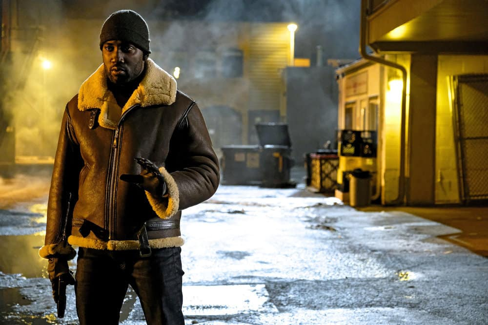 """WYNONNA EARP -- """"Whiskey Lullaby"""" Episode 206 -- Pictured: Shamier Anderson as Agent Dolls"""