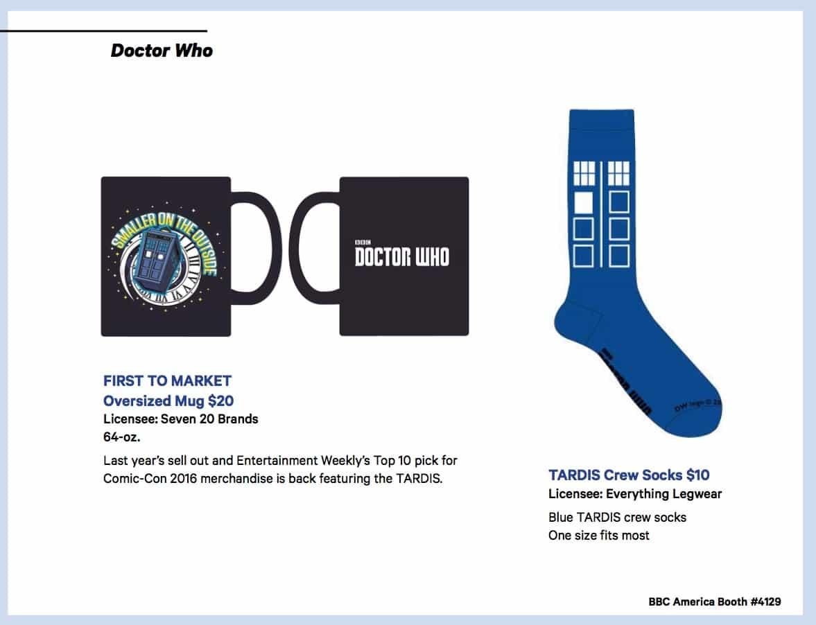 BBC Shops Official SDCC Guide 5
