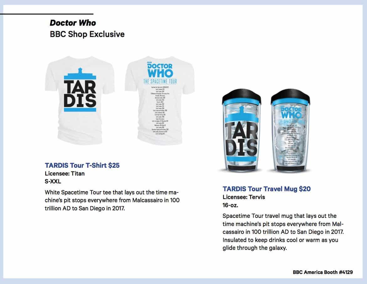 BBC Shops Official SDCC Guide 2