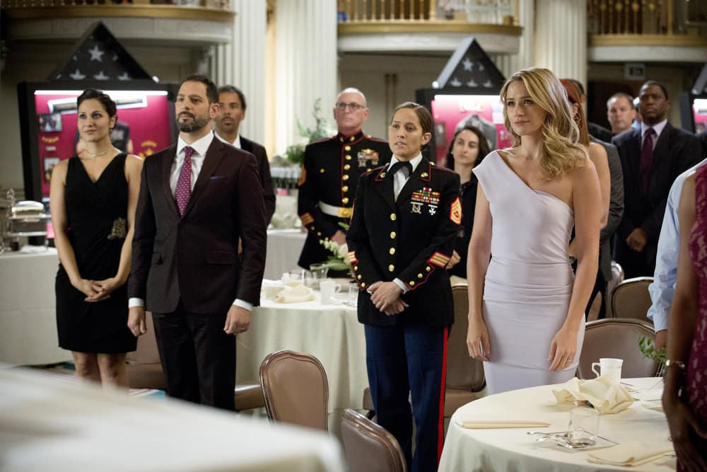 "SHOOTER -- ""The Hunting Party"" Episode 201 -- Pictured: (l-r) Jaina Lee Ortiz as Angela Tio, Shantel Vansanten as Julie Swagger"