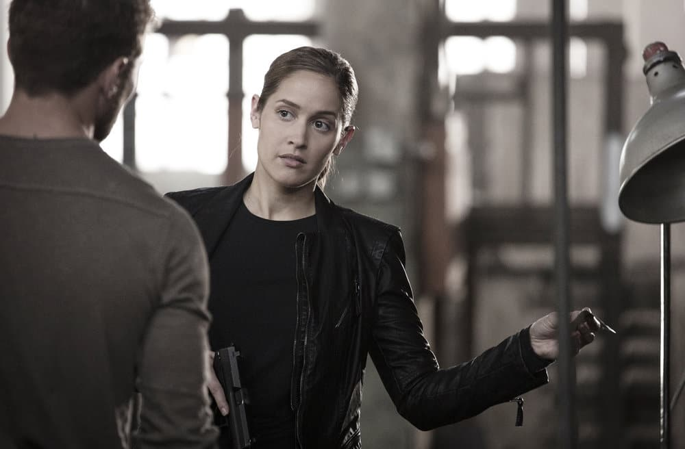 "SHOOTER -- ""Remember the Alamo"" Episode 202 -- Pictured: Jaina Lee Ortiz as Angela Tio"