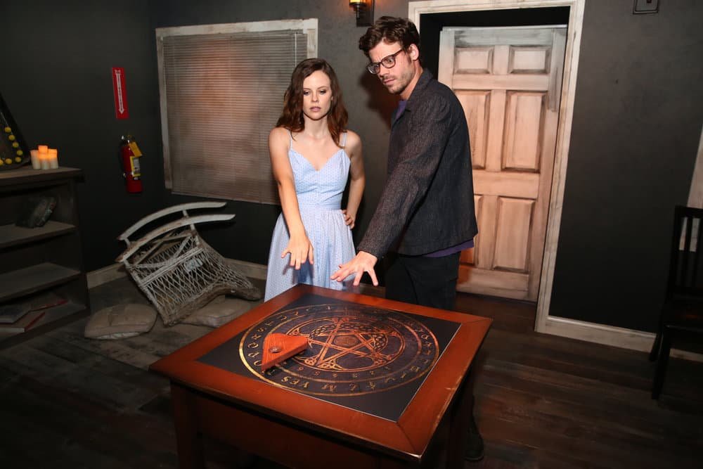 "COMIC-CON INTERNATIONAL: SAN DIEGO 2017 -- ""NBC at Comic-Con"" -- Pictured: (l-r) Sarah Ramos, François Arnaud at the Midnight, Texas Activation, San Diego, Calif"