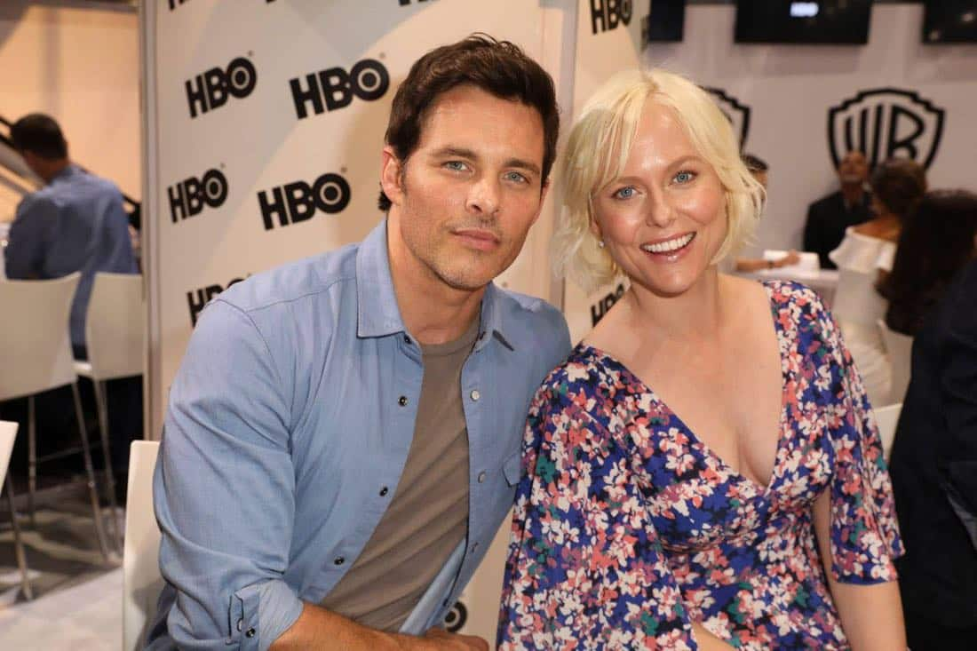 WESTWORLD stars James Marsden and Ingrid Bolsø Berdal stopped by the Warner Bros. booth at Comic-Con 2017 on Saturday, July 22. #WBSDCC (© 2017 WBEI. All Rights Reserved)