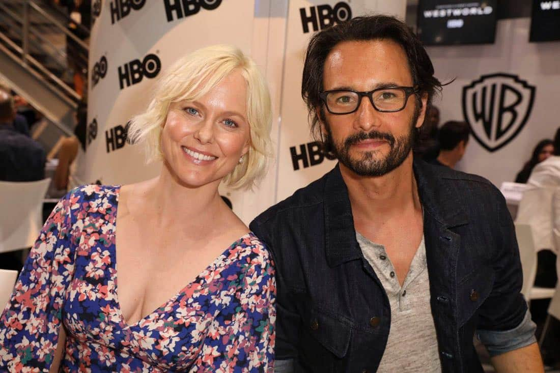 WESTWORLD stars Ingrid Bolsø Berdal and Rodrigo Santoro visit the Warner Bros. booth at Comic-Con 2017 on Saturday, July 22. #WBSDCC (© 2017 WBEI. All Rights Reserved)