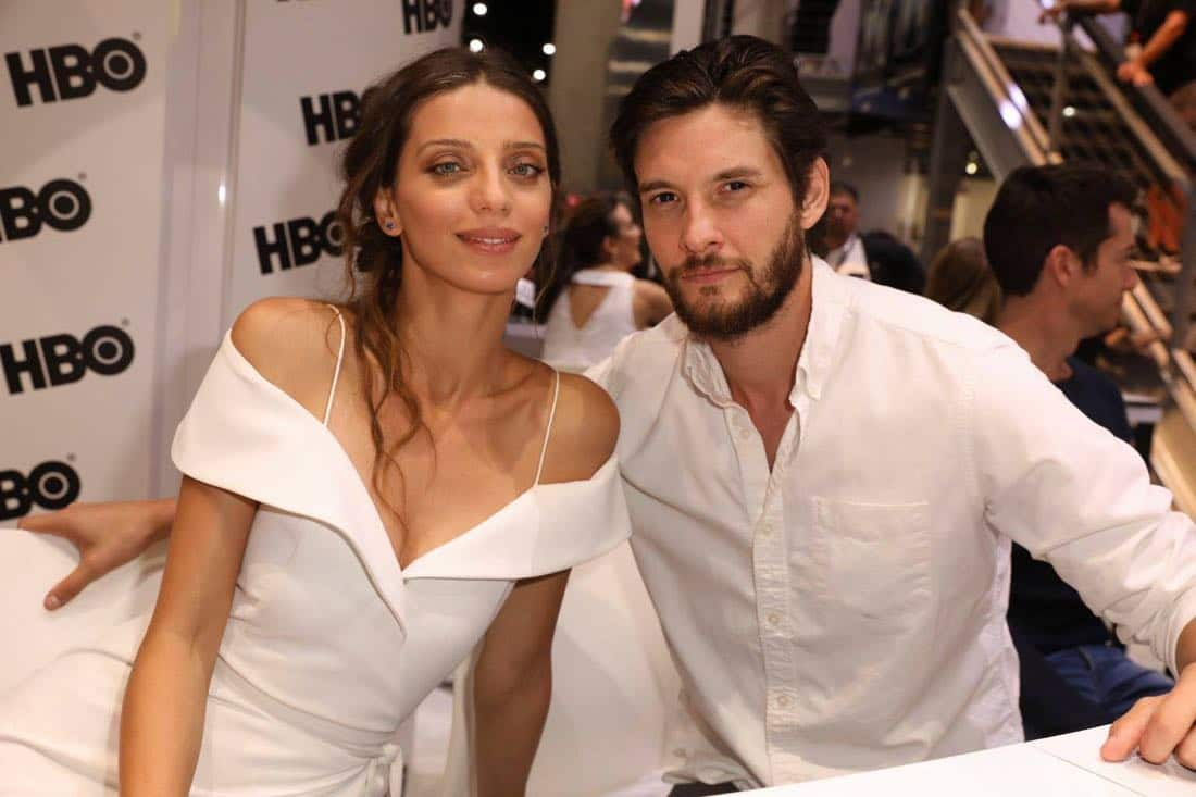 WESTWORLD stars Angela Sarafyan and Ben Barnes snap a photo at the Warner Bros. booth at Comic-Con 2017 on Saturday, July 22. #WBSDCC (© 2017 WBEI. All Rights Reserved)