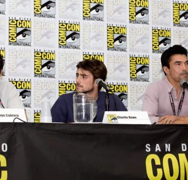 """(l-r): Santiago Cabrera; Charlie Rowe; Ian Anthony Dale during the """"Salvation"""" Panel at Comic-Con 2017 on Saturday, July 22nd in San Diego, Ca. Photo Cr: Lena Parker-Duncan © 2017 CBS Interactive. All Rights Reserved."""