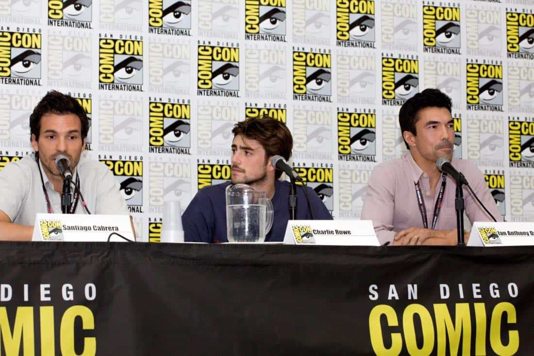 "(l-r): Santiago Cabrera; Charlie Rowe; Ian Anthony Dale during the ""Salvation"" Panel at Comic-Con 2017 on Saturday, July 22nd in San Diego, Ca. Photo Cr: Lena Parker-Duncan © 2017 CBS Interactive. All Rights Reserved."