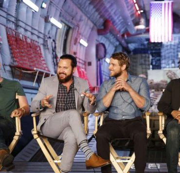 Panel session for the new CBS show, SEAL TEAM, at the TCA presentations at CBS Studio Center in Los Angeles, August 1, 2017. Pictured: (L-R): David Boreanaz, AJ Buckley, Max Thieriot, Neil Brown Jr. Photo: Trae Patton/CBS ©2016 CBS Broadcasting Inc. All Rights Reserved.