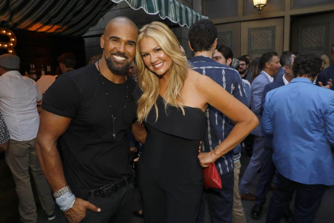 Shemar Moore and Nancy O'Dell at the CBS Summer Soirée, held on August 1, 2017 in Los Angeles, CA. Photo: Trae Patton/CBS ©2017 Broadcasting Inc. All Rights Reserved