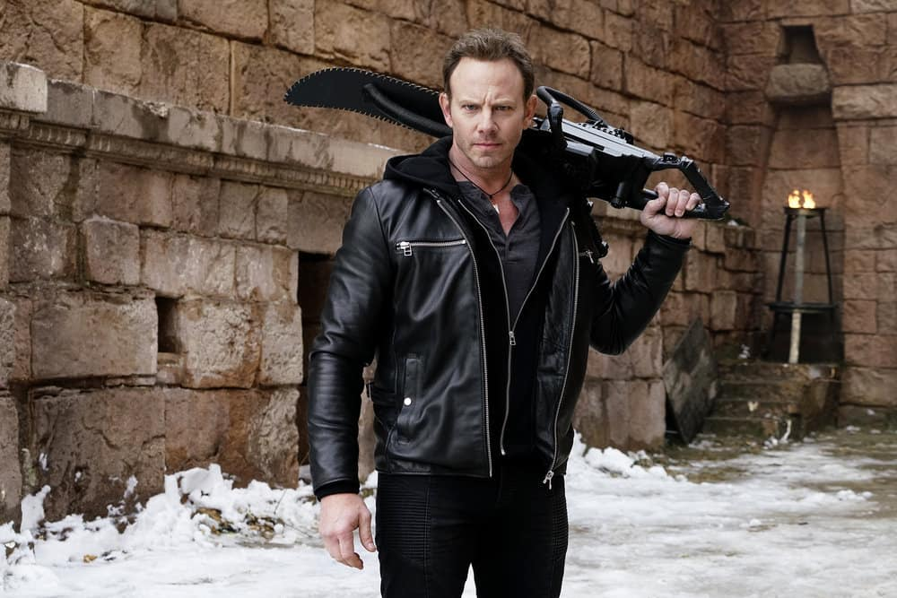 SHARKNADO 5 -- Pictured: Ian Ziering as Fin Shepard -- (Photo by: Yana Blajeva/Syfy)
