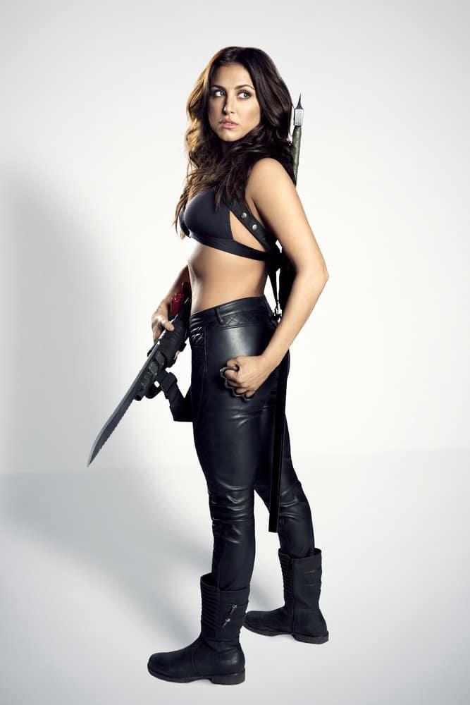 SHARKNADO 5 -- Season:2017 -- Pictured: Cassie Scerbo as Nova Clarke -- (Photo by: Raymond Liu/Syfy)