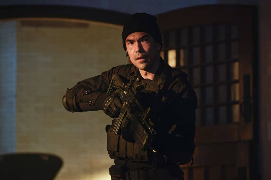 """Chip Off the Ol' Block"" - Darius recruits Grace, Harris and Liam for a dangerous mission, and Jillian confronts Liam about his secret, on SALVATION, Wednesday, August 9 (9:00-10:00, ET/PT). Pictured: Ian Anthony Dale. Photo: Ben Mark Holzberg/CBS ©2017 CBS Broadcasting Inc. All Rights Reserved"