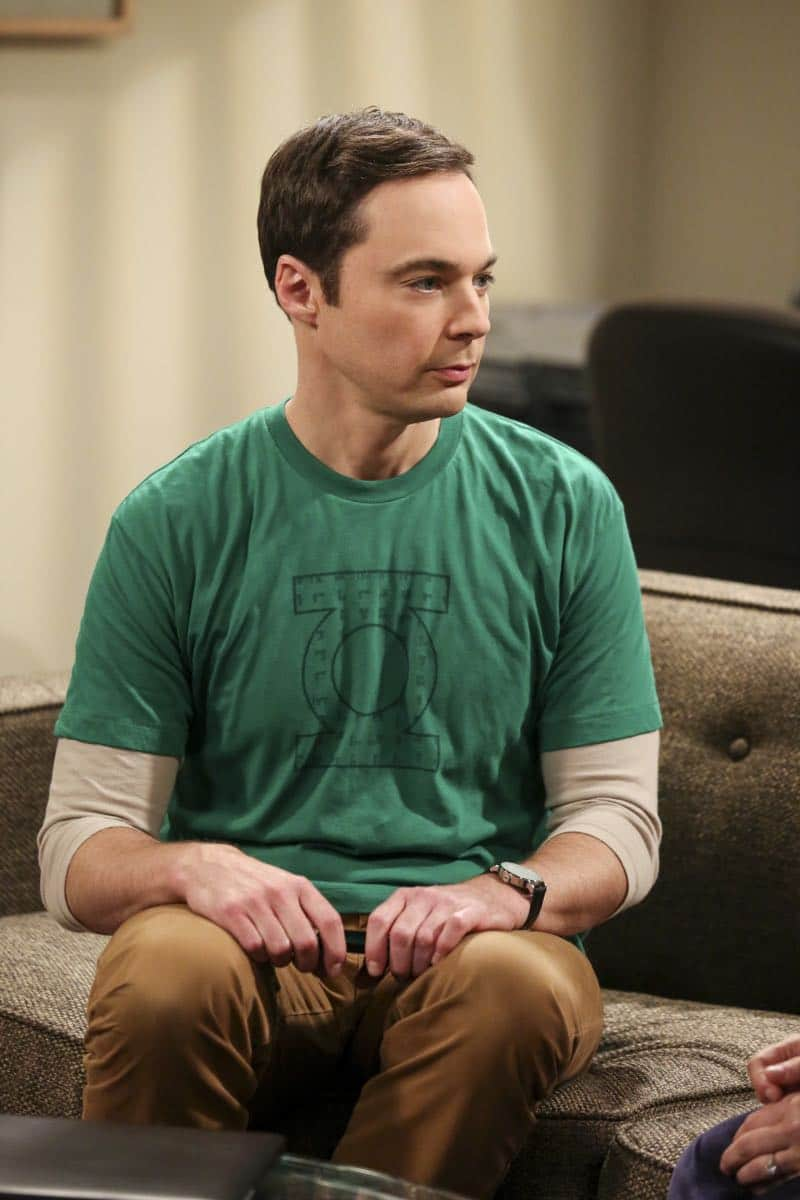 """The Proposal Proposal"" - Pictured: Sheldon Cooper (Jim Parsons). Amy gives Sheldon an answer to his proposal while Howard and Bernadette struggle with some unexpected news, on the 11th season premiere of THE BIG BANG THEORY, Monday, Sept. 25 (8:00-8:30 PM, ET/PT) on the CBS Television Network. Laurie Metcalf returns as Sheldon--С™Р""--ћР""Т's mother, Mary; Riki Lindhome returns as Ramona; and Stephen Hawking returns as himself. Photo: Michael Yarish/Warner Bros. Entertainment Inc. Р'В¬Р'В© 2017 WBEI. All rights reserved."