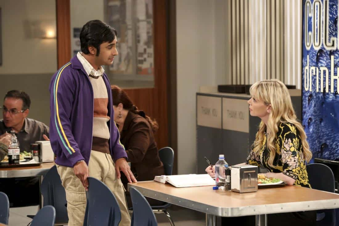 """The Proposal Proposal"" - Pictured: Rajesh Koothrappali (Kunal Nayyar) and Dr. Ramona Nowitzki (Riki Lindhome). Amy gives Sheldon an answer to his proposal while Howard and Bernadette struggle with some unexpected news, on the 11th season premiere of THE BIG BANG THEORY, Monday, Sept. 25 (8:00-8:30 PM, ET/PT) on the CBS Television Network. Laurie Metcalf returns as Sheldon--С™Р""--ћР""Т's mother, Mary; Riki Lindhome returns as Ramona; and Stephen Hawking returns as himself. Photo: Michael Yarish/Warner Bros. Entertainment Inc. Р'В¬Р'В© 2017 WBEI. All rights reserved."