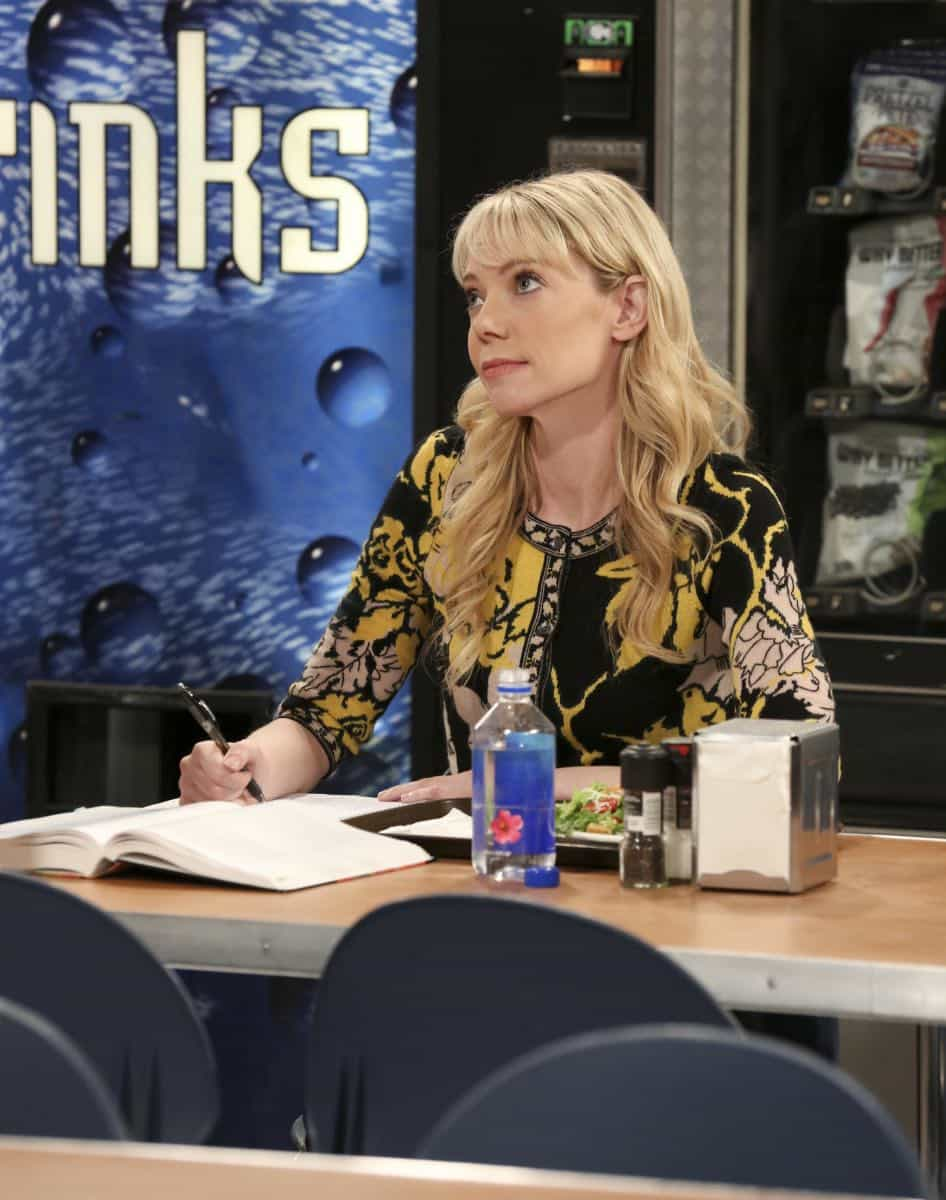 """The Proposal Proposal"" - Pictured: Dr. Ramona Nowitzki (Riki Lindhome). Amy gives Sheldon an answer to his proposal while Howard and Bernadette struggle with some unexpected news, on the 11th season premiere of THE BIG BANG THEORY, Monday, Sept. 25 (8:00-8:30 PM, ET/PT) on the CBS Television Network. Laurie Metcalf returns as Sheldon--С™Р""--ћР""Т's mother, Mary; Riki Lindhome returns as Ramona; and Stephen Hawking returns as himself. Photo: Michael Yarish/Warner Bros. Entertainment Inc. Р'В¬Р'В© 2017 WBEI. All rights reserved."