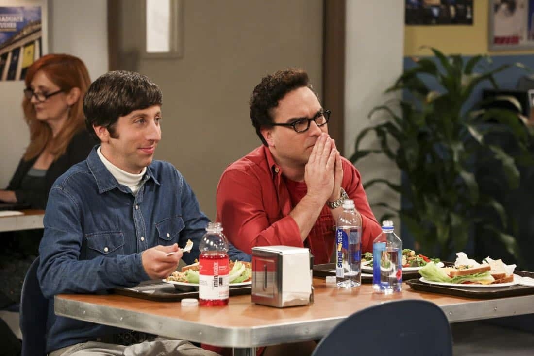 """The Proposal Proposal"" - Pictured: Howard Wolowitz (Simon Helberg) and Leonard Hofstadter (Johnny Galecki). Amy gives Sheldon an answer to his proposal while Howard and Bernadette struggle with some unexpected news, on the 11th season premiere of THE BIG BANG THEORY, Monday, Sept. 25 (8:00-8:30 PM, ET/PT) on the CBS Television Network. Laurie Metcalf returns as Sheldon--С™Р""--ћР""Т's mother, Mary; Riki Lindhome returns as Ramona; and Stephen Hawking returns as himself. Photo: Michael Yarish/Warner Bros. Entertainment Inc. Р'В¬Р'В© 2017 WBEI. All rights reserved."
