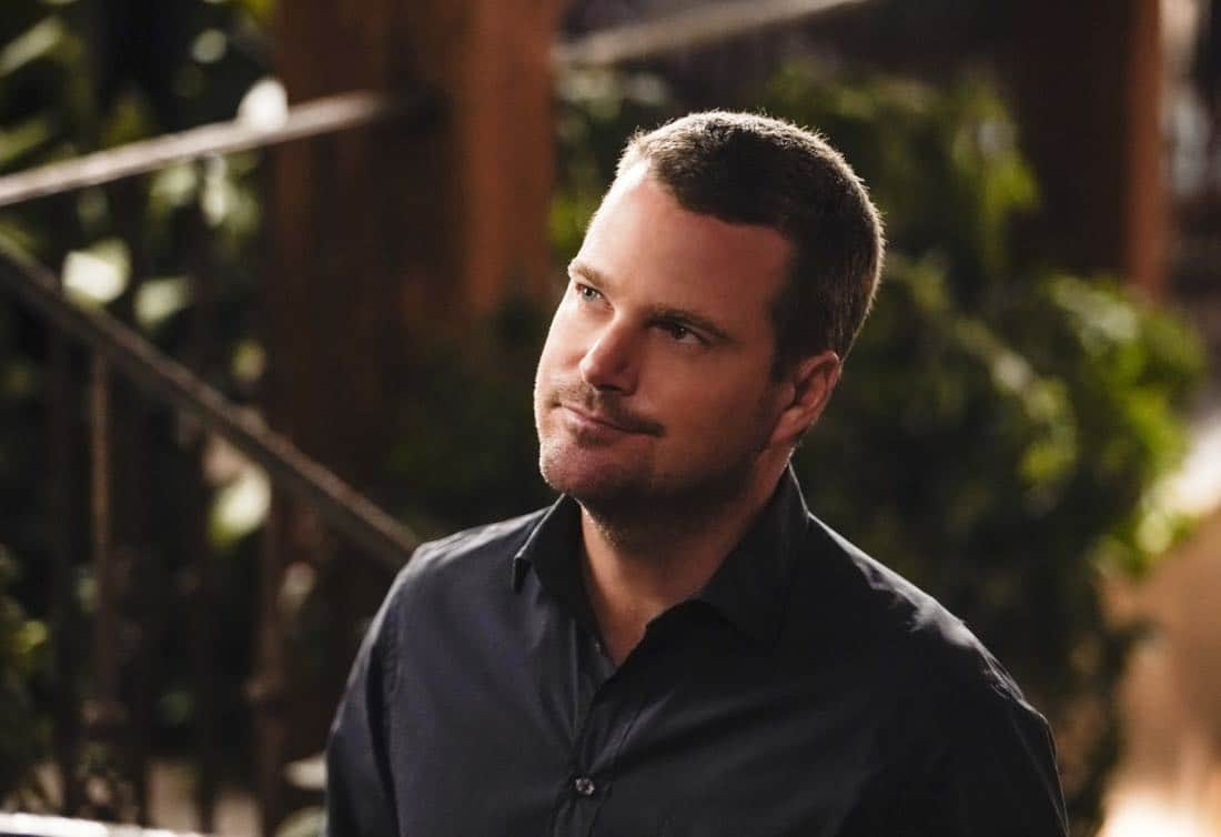 """Party Crashers"" -- Pictured: Chris O'Donnell (Special Agent G. Callen). After Hetty turns in retirement papers and then disappears, Executive Assistant Director Shay Mosley (Nia Long) arrives in Los Angeles to oversee the team and immediately makes staffing changes. Also, still mourning the death of his wife and living in a trailer on the beach, Sam is adamant that Callen find a new partner, on the ninth season premiere of NCIS: LOS ANGELES, Sunday, Oct. 1 (9:30-10:30 PM, ET/PT) on the CBS Television Network. Photo: Erik Voake/CBS ©2017 CBS Broadcasting, Inc. All Rights Reserved."