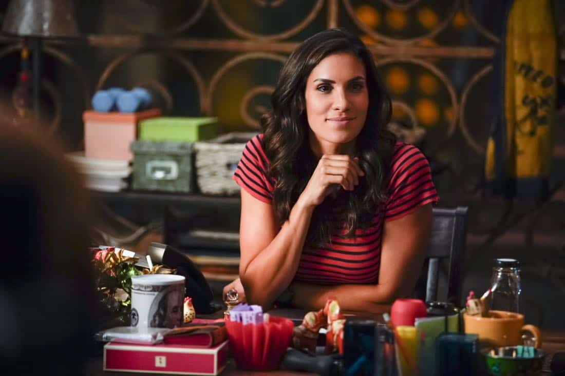 """Party Crashers"" -- Pictured: Daniela Ruah (Special Agent Kensi Blye). After Hetty turns in retirement papers and then disappears, Executive Assistant Director Shay Mosley (Nia Long) arrives in Los Angeles to oversee the team and immediately makes staffing changes. Also, still mourning the death of his wife and living in a trailer on the beach, Sam is adamant that Callen find a new partner, on the ninth season premiere of NCIS: LOS ANGELES, Sunday, Oct. 1 (9:30-10:30 PM, ET/PT) on the CBS Television Network. Photo: Erik Voake/CBS ©2017 CBS Broadcasting, Inc. All Rights Reserved."