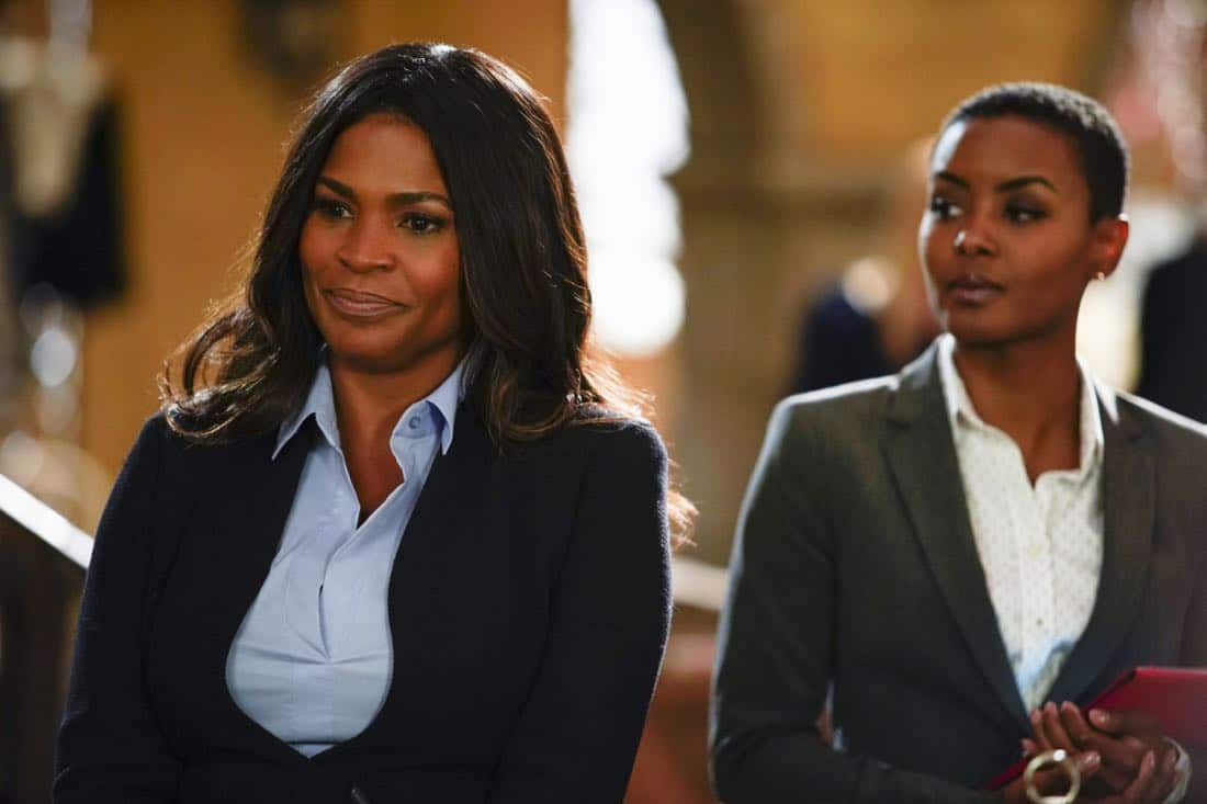 """Party Crashers"" -- Pictured: Nia Long (Executive Assistant Director Shay Mosley) and Andrea Bordeaux (NCIS Special Agent Harley Hidoko). After Hetty turns in retirement papers and then disappears, Executive Assistant Director Shay Mosley (Nia Long) arrives in Los Angeles to oversee the team and immediately makes staffing changes. Also, still mourning the death of his wife and living in a trailer on the beach, Sam is adamant that Callen find a new partner, on the ninth season premiere of NCIS: LOS ANGELES, Sunday, Oct. 1 (9:30-10:30 PM, ET/PT) on the CBS Television Network. Photo: Erik Voake/CBS ©2017 CBS Broadcasting, Inc. All Rights Reserved."