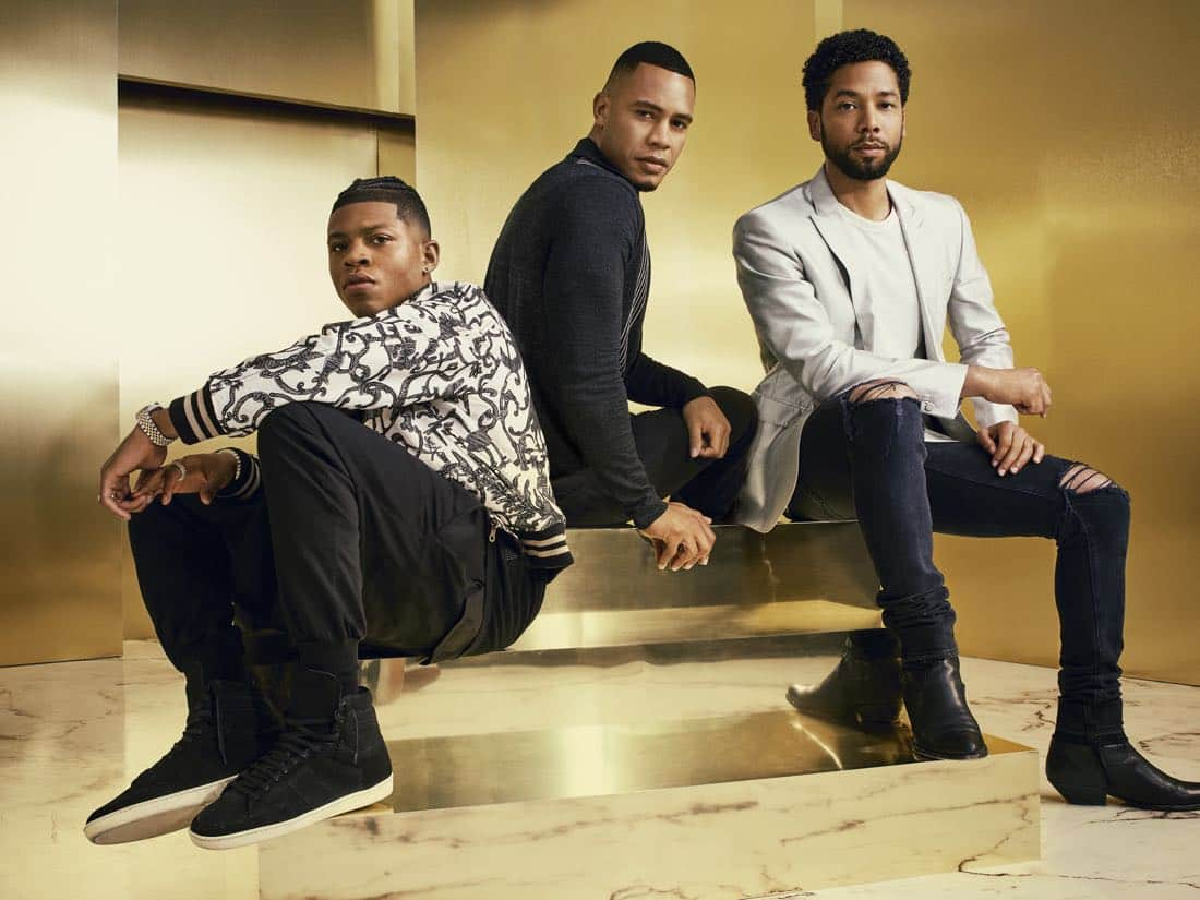 EMPIRE: Pictured L-R: Bryshere Gray, Trai Byers and Jussie Smollett on Season Four of EMPIRE premiering Wednesday, Sept. 27 (8:00-9:00 PM ET/PT) on FOX. ©2017 Fox Broadcasting Co. CR: Michael Lavine/FOX