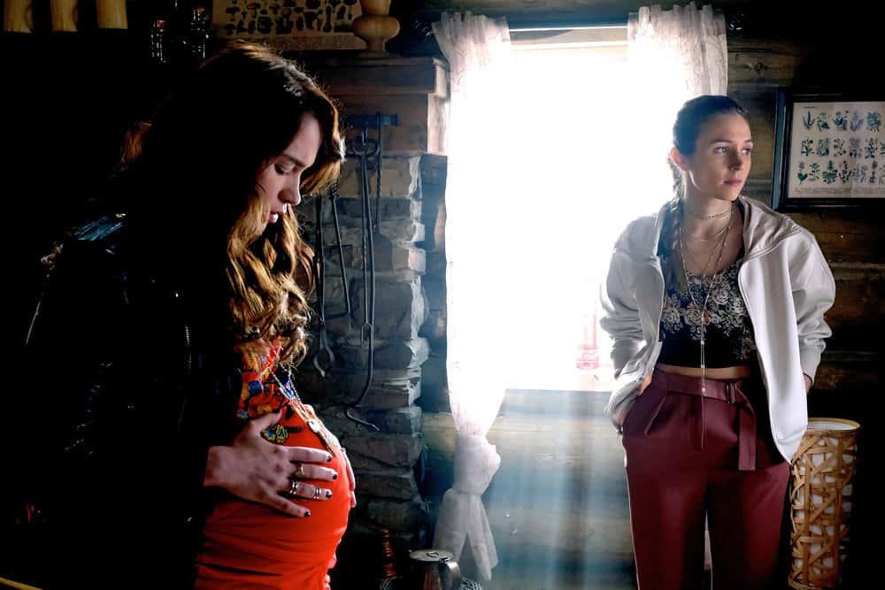 """WYNONNA EARP -- """"I Hope You Dance"""" Episode 212 -- Pictured: (l-r) Melanie Scrofano as Wynonna Earp, Dominique Provost-Chalkley as Waverly Earp -- (Photo by: Michelle Faye/Syfy/Wynonna Earp Season 2)"""