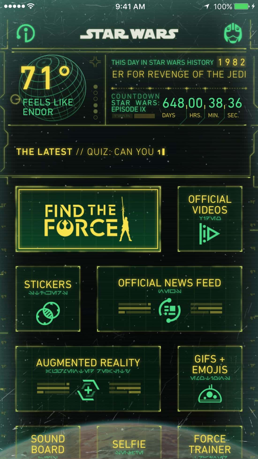Star Wars Find The Force App
