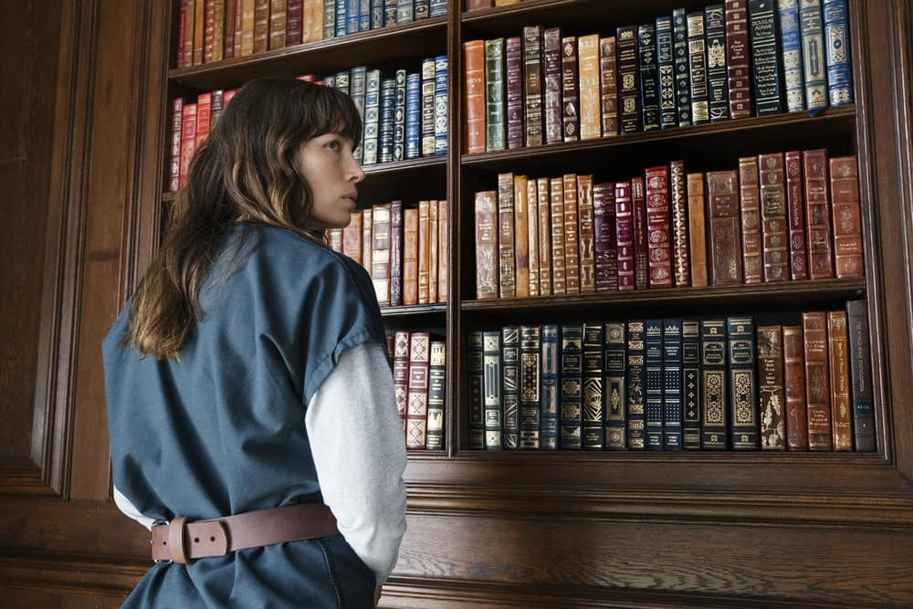 "THE SINNER -- ""Part VI"" Episode 106 -- Pictured: Jessica Biel as Cora Tannetti -- (Photo by: Peter Kramer/USA Network)"