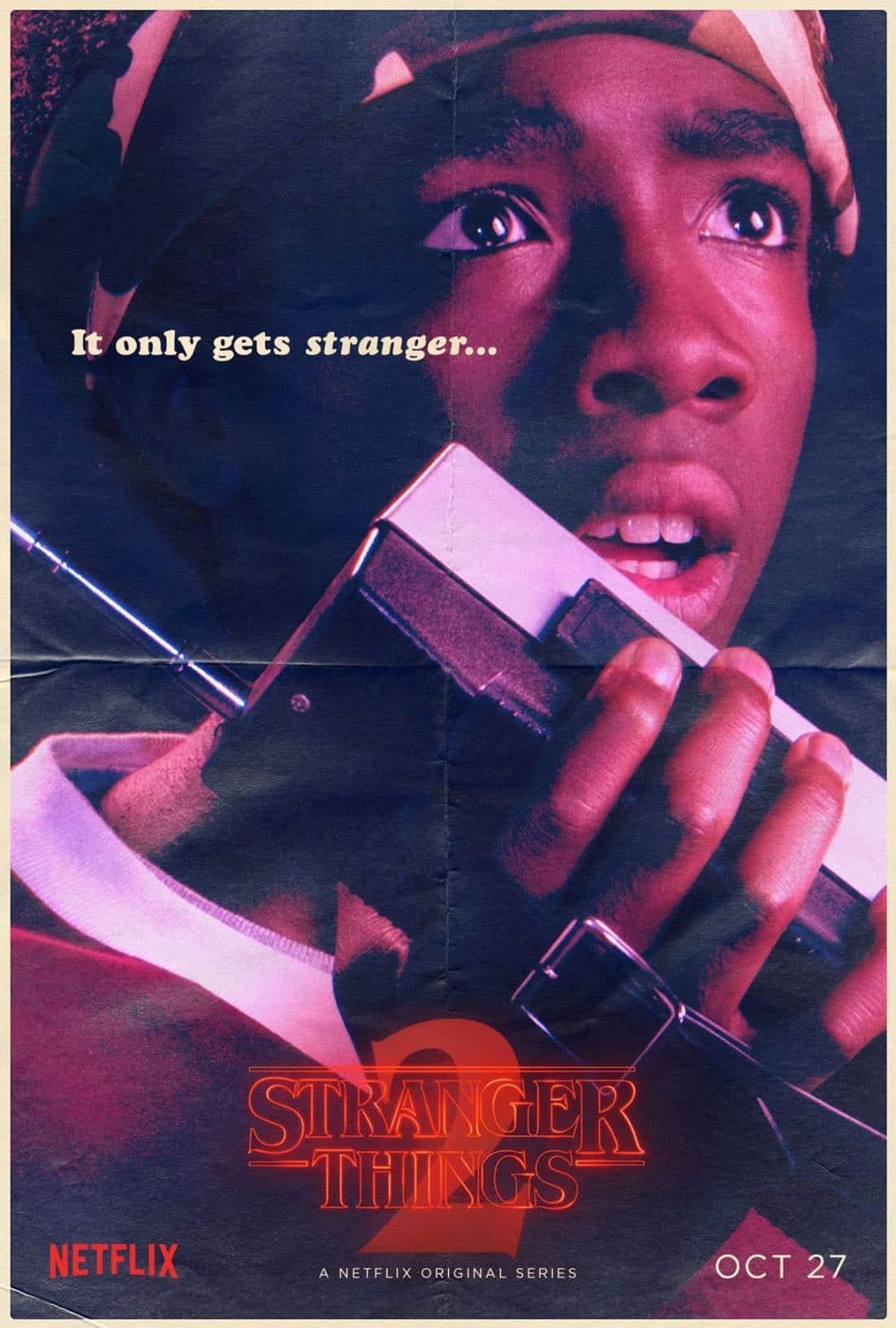 Stranger Things Character Poster - Caleb McLaughlin - Lucas