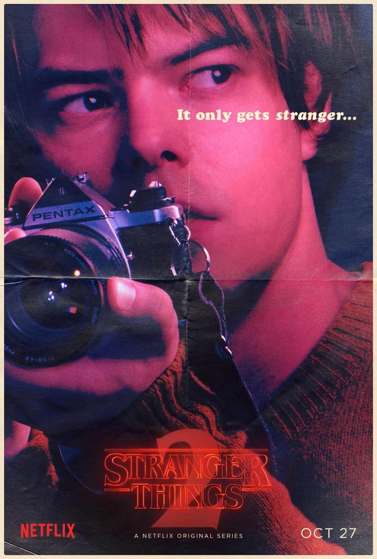 Stranger Things Character Poster - Charlie Heaton - Jonathan