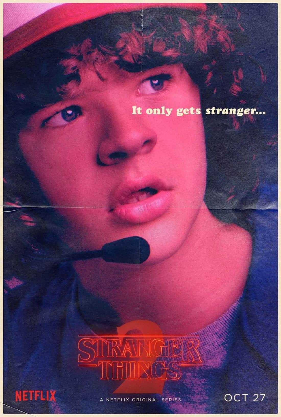 Stranger Things Character Poster - Gaten Matarazzo - Dustin