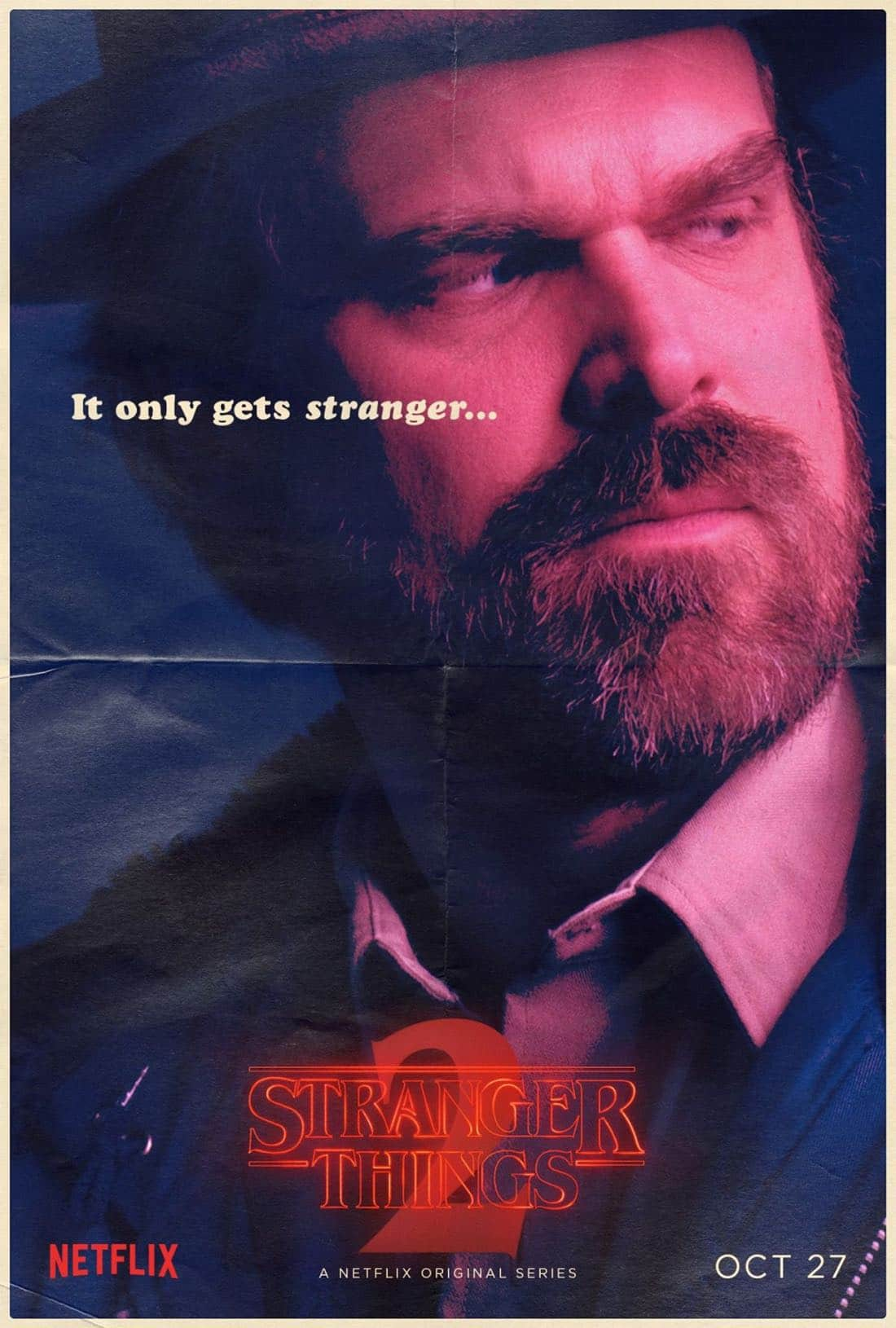 Stranger Things Character Poster - David Harbour - Chief Hopper