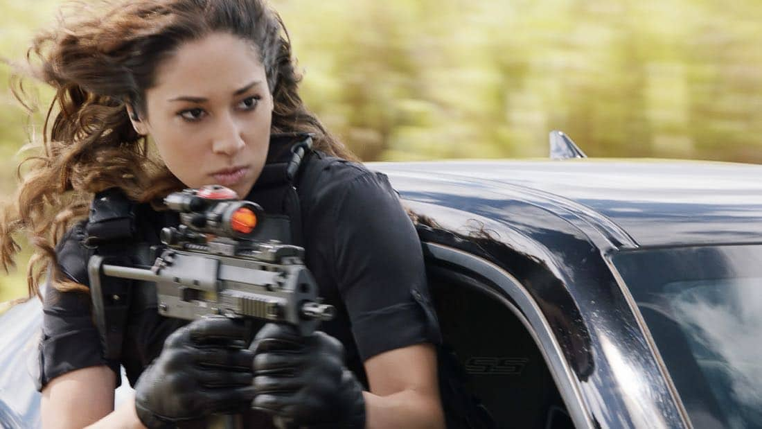"""""""'A'ole e 'lelo mai ana ke ahi ua ana ia"""" -- McGarrett and Danny recruit Tani Rey (Meaghan Rath) to join the task force when diabolical hacker Aaron Wright (Joey Lawrence) releases a dangerous arsonist from prison, on the eighth season premiere of HAWAII FIVE-0, Friday, Sept. 29 (9:00-10:00 PM, ET/PT) on the CBS Television Network. The season premiere includes animation of one of McGarrett and Danny's infamous """"car-guements."""" Also, Randy Couture returns, and Joey Lawrence joins his brother, Andrew, when he guest stars as Aaron Wright, a hacker. Pictured: Meaghan Rath as Tani Rey. Photo: Best Screen Grab Available/CBS ©2017 CBS Broadcasting, Inc. All Rights Reserved (""""'A'ole e '?lelo mai ana ke ahi ua ana ia"""" is Hawaiian for """"Fire Will Never Say that It Has Had Enough"""")"""