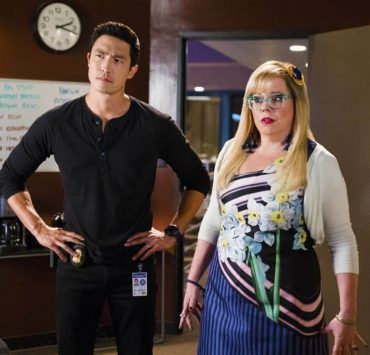 """""""Wheels Up"""" -- Agent Matt Simmons joins the BAU team in a race to take down Mr. Scratch and, in the process, save one of their own, on the 13th season premiere of CRIMINAL MINDS, Sept. 27, 2017, at a new time (10:00-11:00 PM, ET/PT) on the CBS Television Network. Daniel Henney joins the cast as Matt Simmons, an ex-Delta soldier and former International Response Team member. Pictured: Daniel Henney (Special Agent Matt Simmons), Kirsten Vangsness (Penelope Garcia) Photo: Sonja Flemming/CBS ©2017 CBS Broadcasting, Inc. All Rights Reserved"""