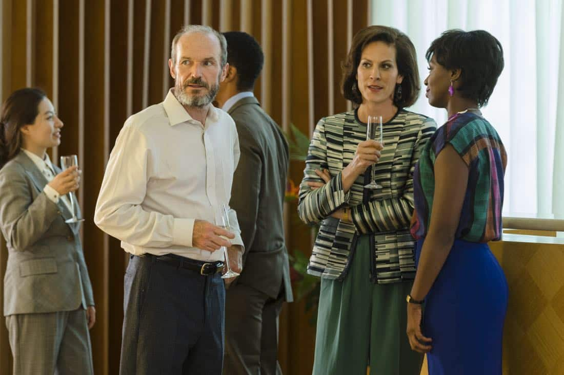 Toby Huss as John Bosworth, Annabeth Gish as Diane; Sasha Marfow as Tanya Reese  - Halt and Catch Fire _ Season 4, Episode 4 - Photo Credit: Bob Mahoney/AMC