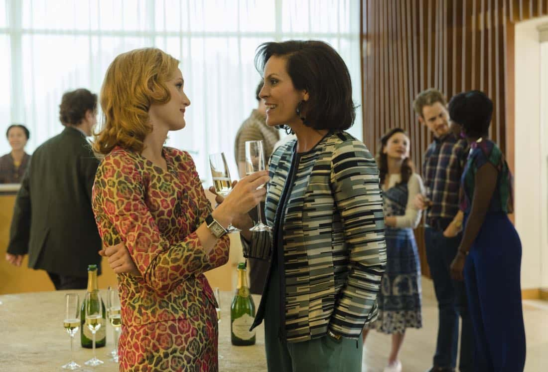 Kerry Bishe as Donna Emerson, Annabeth Gish as Diane Gould - Halt and Catch Fire _ Season 4, Episode 4 - Photo Credit: Bob Mahoney/AMC