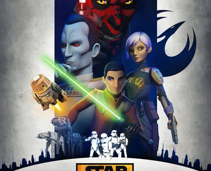 "STAR WARS REBELS - A brand new ""Star Wars Rebels"" trailer debuted at Star Wars Celebration Europe today and revealed some big hints of what's to come in the hit series' third season, including new characters Grand Admiral Thrawn-a fan-favorite from Star Wars Legends voiced by ""House of Cards"" Lars Mikkelsen-and Bendu, an ancient and powerful new character voiced by classic ""Doctor Who"" actor Tom Baker. (Lucasfilm)"