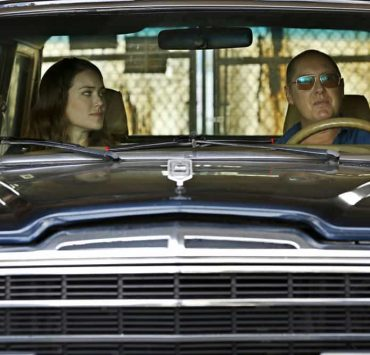 "THE BLACKLIST -- ""Smokey Putnam (#30)"" Episode 501 -- Pictured: (l-r) Megan Boone as Elizabeth Keen, James Spader as Raymond ""Red"" Reddington -- (Photo by Will Hart/NBC)"