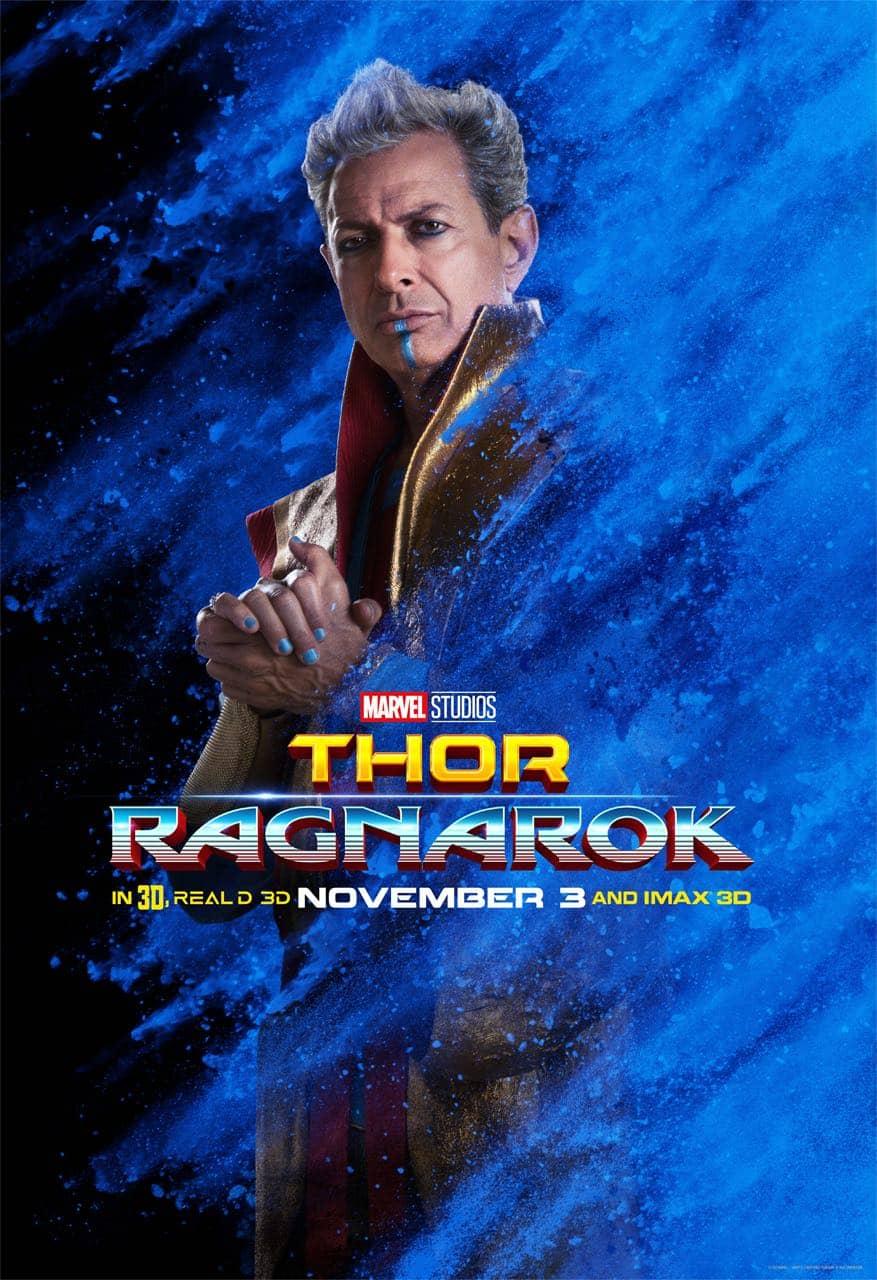 Jeff Goldblum Grandmaster Thor Ragnarok Character Poster