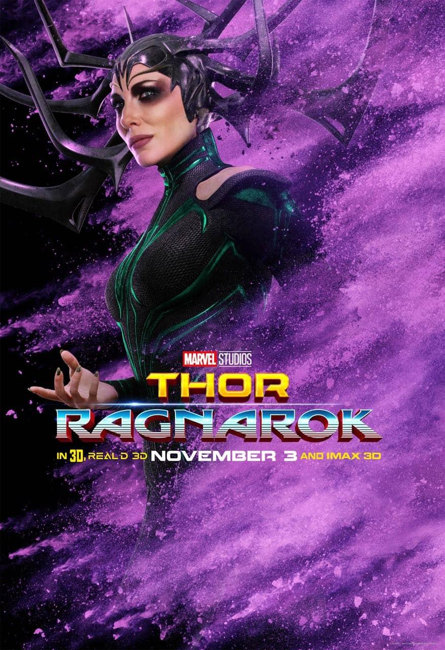 Cate Blanchett Hela Thor Ragnarok Character Poster