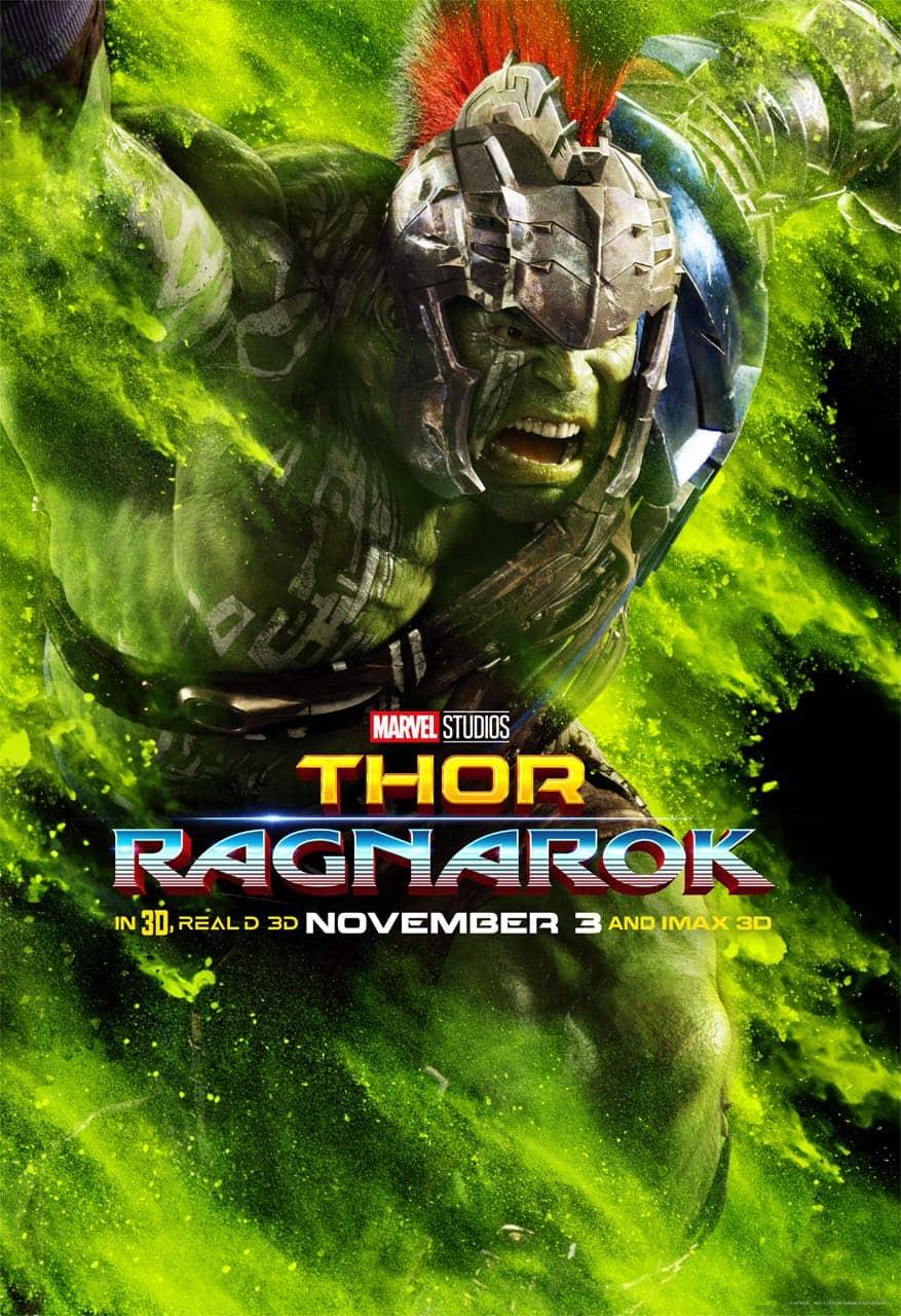 Mark Ruffalo Hulk Thor Ragnarok Character Poster